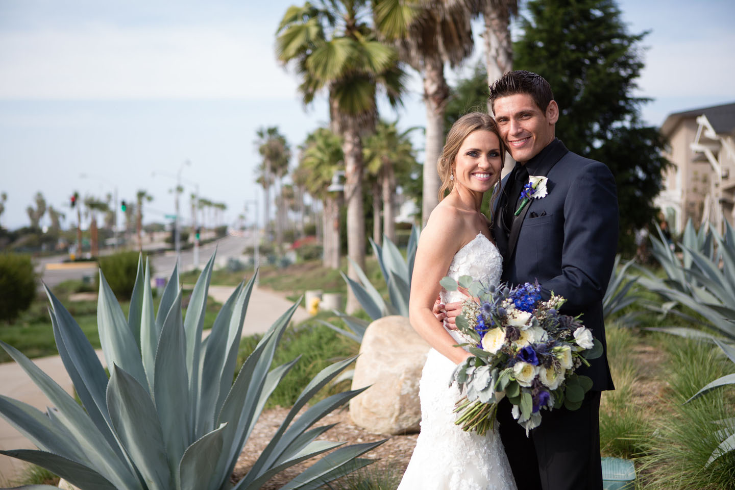 Bride and Groom photo after their wedding in san diego