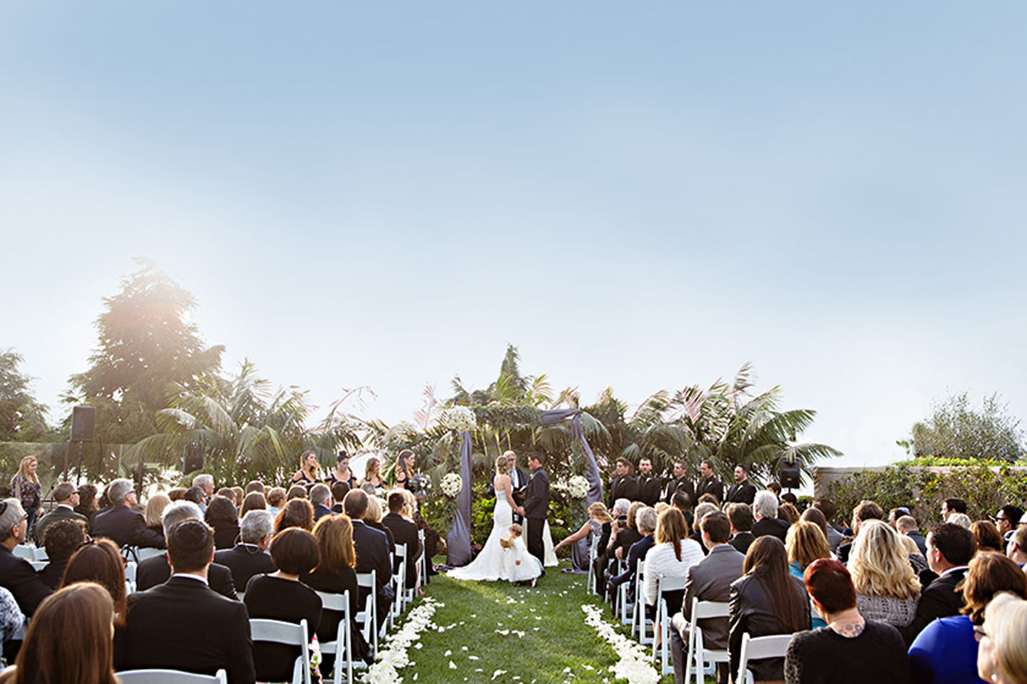 Wedding ceremony at Cape Rey Resort