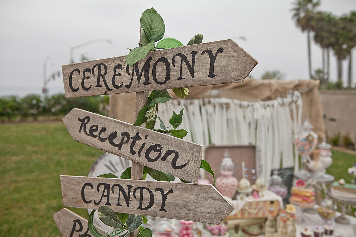 Ceremony and reception sign