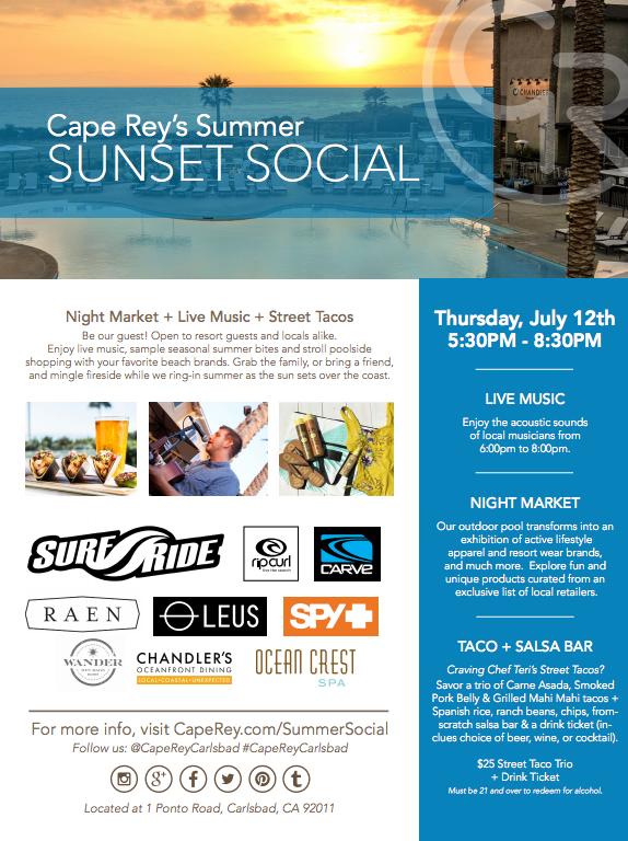 Sunset Social Flyer