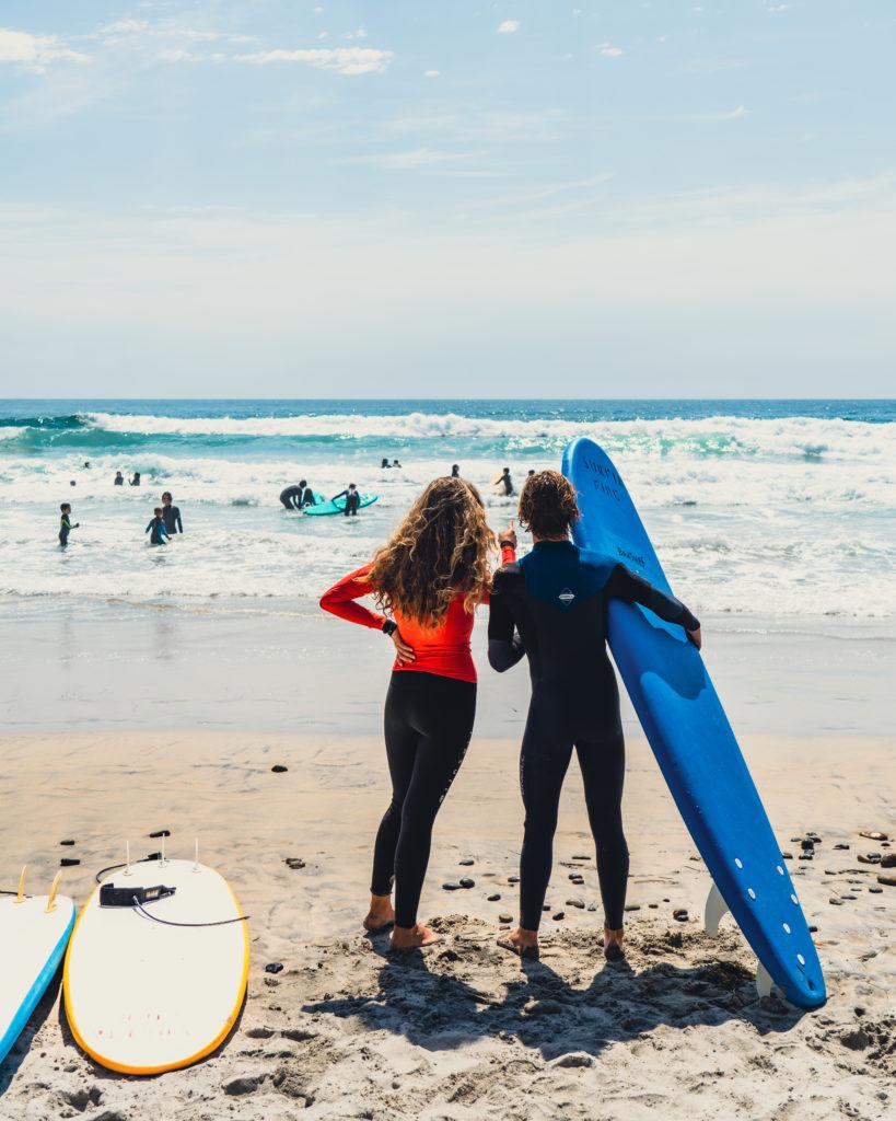 surf instructors at ponto beach