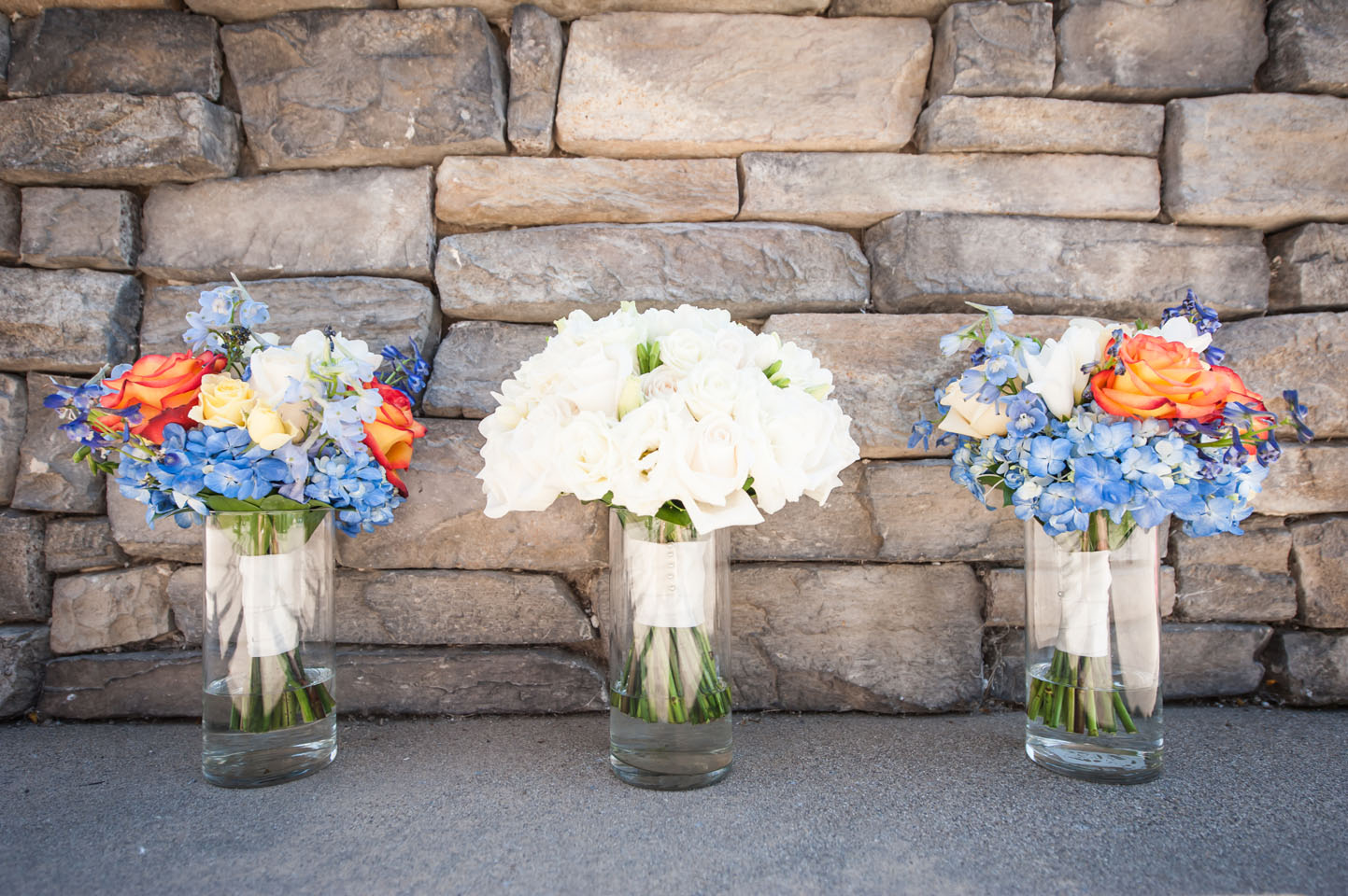 Flowers for the bridal party table